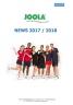 Nouveautés JOOLA pour la Saison 2017-2018