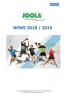 Nouveautés JOOLA Saison 2018-2019