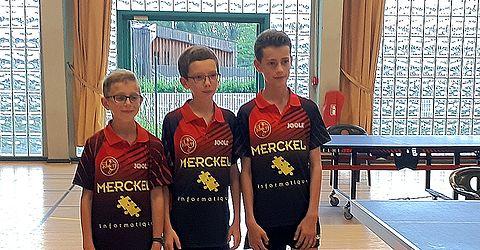 Noa Lutz, Clément Desmonts et Louis Henry sont Champions du Bas-Rhin en benjamins