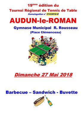 Affiche Tournoi Audun Roman 2018