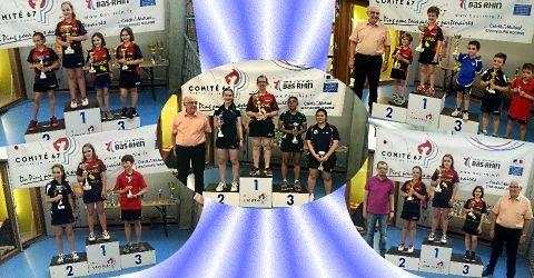 Championnats du Bas-Rhin : nos nombreux podiums