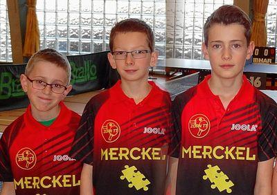 Noa Lutz, Clément Desmonts et Louis Henry sont champions du secteur en benjamins