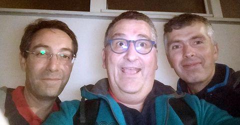 L'équipe AGR 3 avec Pierre Desmonts, Olivier Richert et Olivier Henry