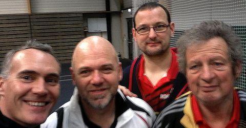 Équipe 2 AGR avec Christophe, Michel, Manu et Bruno