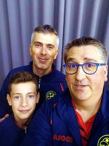 L'équipe AGR 3 avec Louis et Olivier Henry et Olivier Richert