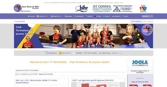 zorntt.fr s'est refait une beauté - Page du site internet