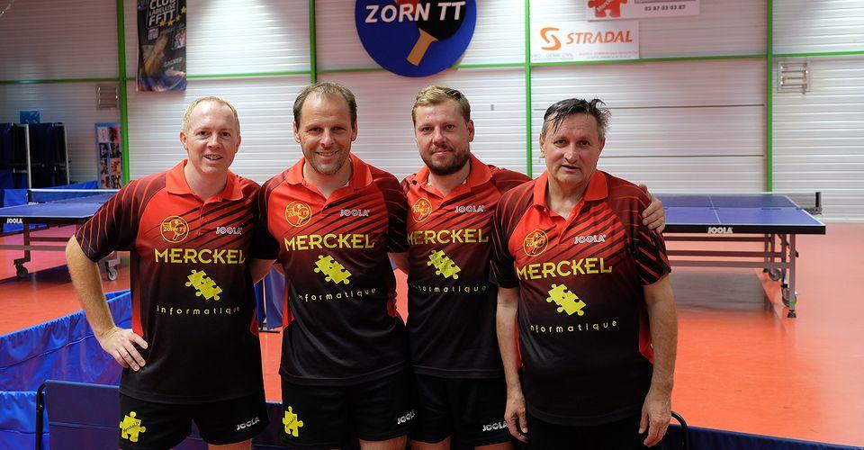 Equipe 2 Messieurs avec Christian Zaza, Yannick Hank, Olivier Erbs et Patrick Belzon
