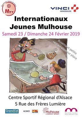 Internationaux Jeunes de Mulhouse 2019 Affiche