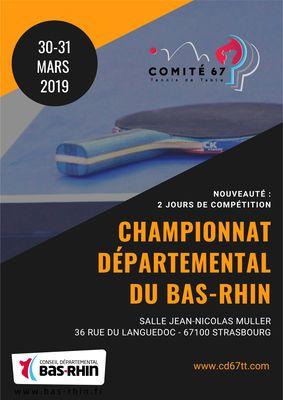 Affiche Championnat Départemental du Bas-Rhin 2019
