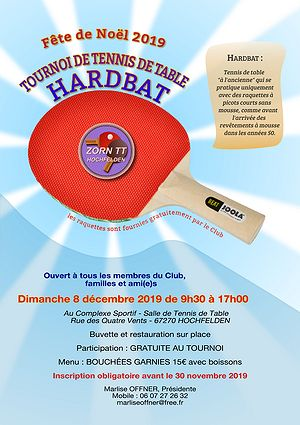 Affiche Fête de Noël Zorn TT Hochfelden 2019