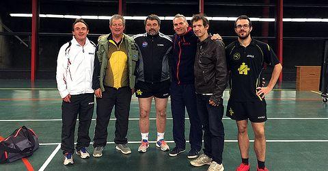 Équipe 1 AGR avec Eric, Bruno, Séb, Christophe, Damien et Loïg