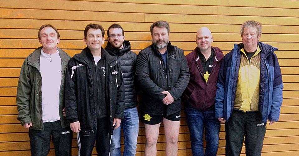 Équipe AGR 1 victorieuse : Éric, Manu, Loïg, Seb, Michel et Bruno