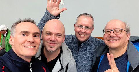 Équipe 2 AGR avec Christophe, Michel, Thierry et Claude