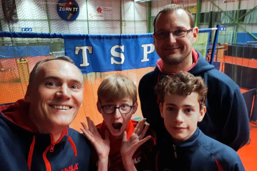 Équipe 2 AGR avec Christophe, Nathan, Emmanuel et Louis