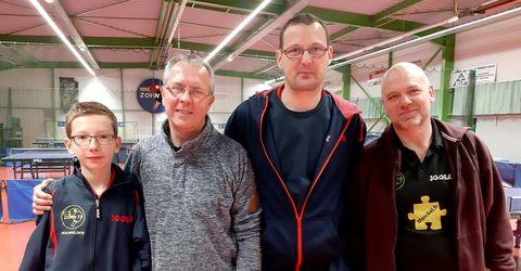 Équipe 2 AGR avec Clément, Valentin, Emmanuel et Michel