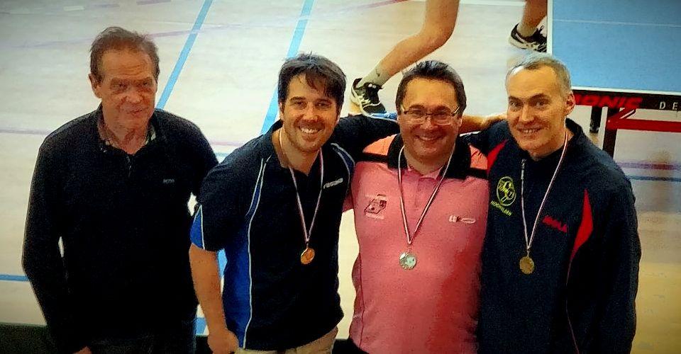 Christophe Michel à droite termine 3ème Messieurs 85/NC