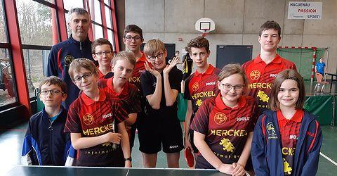 9 jeunes de Zorn TT Hochfelden étaient à Marienthal