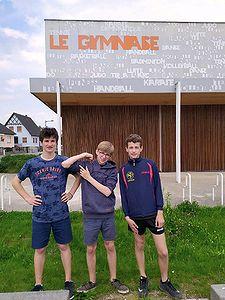 Equipe Minimes avec Thomas, Nathan et Louis