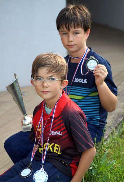 Roméo (au premier plan) et Maël, vice-champions du Grand Est.  Photo DNA