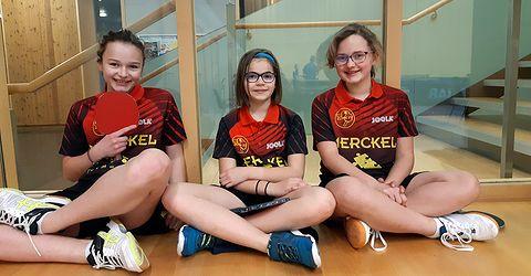 Elise, Sophie et Louna jouaient à Benfeld en minimes
