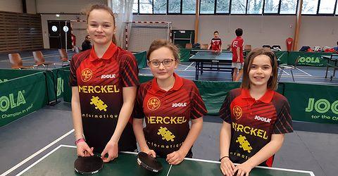 Elise, Louna et Sophie 1ères à Betschdorf en minimes