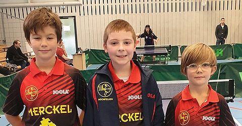 Équipe 1 1ère avec MULLER Maël, MERCIER Luca et MULLER Roméo