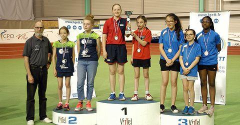 Finale Régionale des Interclubs jeunes - Podium Minimes Filles