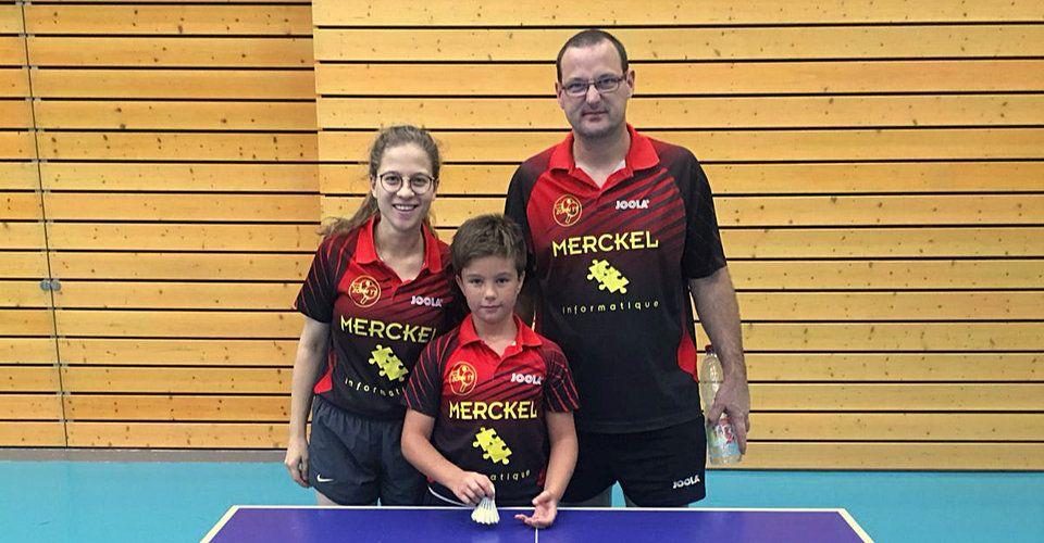 Équipe 3 Seniors avec Amélie Bruder, Maël Muller et Emmanuel Lavenn