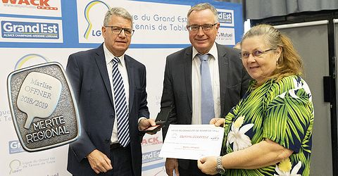 Marlise OFFNER, médaillée d'Argent du Mérite Régional LGETT
