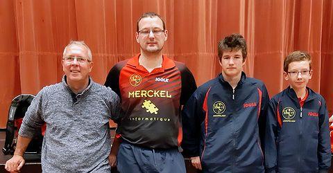 Équipe 2 AGR avec Thierry, Emmanuel, Thomas et Clément