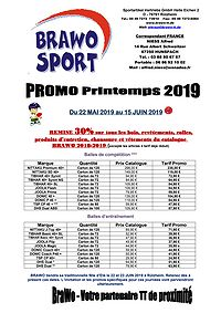 Promotion BRAWO Printemps 2019