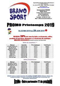 Promotion BRAWO Printemps 2019