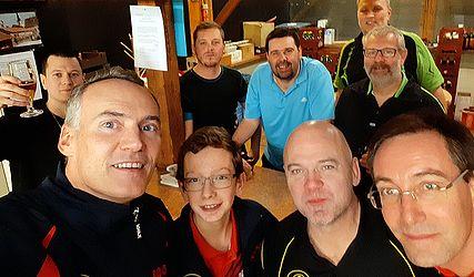 Équipe 2 AGR avec Christophe, Clément, Michel et Pierre