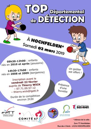 top départemental détection affiche
