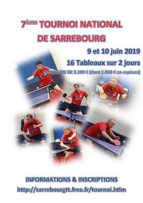 Affiche Tournoi Sarrebourg Tennis de Table