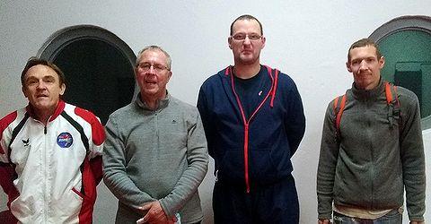 Équipe 2 AGR avec Éric, Thierry, Emmanuel et Damien