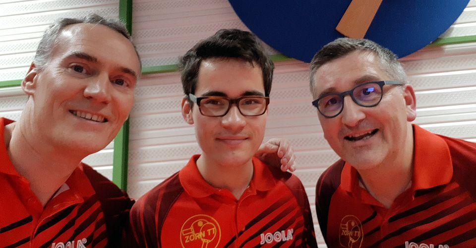 Équipe 3 AGR avec Christophe Michel, Laurent Reiss et Olivier Richert