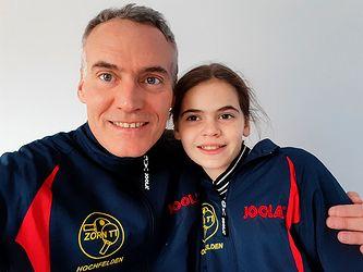 Équipe familiale composée de Christophe et Sophie MICHEL, père et fille