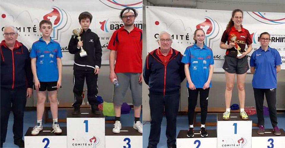 Maël Muller (Messieurs -900 points) et Amélie Bruder (Dames -800 points) sur la première marche du podium
