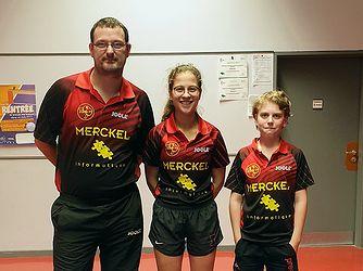 Équipe 3 Seniors avec Emmanuel Lavenn, Amélie Bruder et Titouan Lemarchand