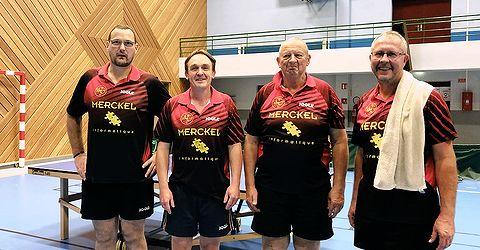 Équipe 2 AGR avec Emmanuel, Éric, Bruno et Thierry