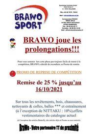Promotion BRAWO Reprise de compétitions